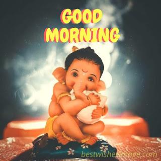 good morning ganesha images pic diwnload