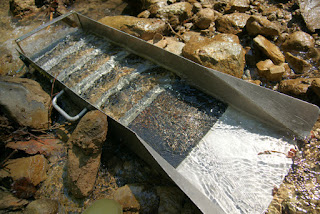 sluice box for gold