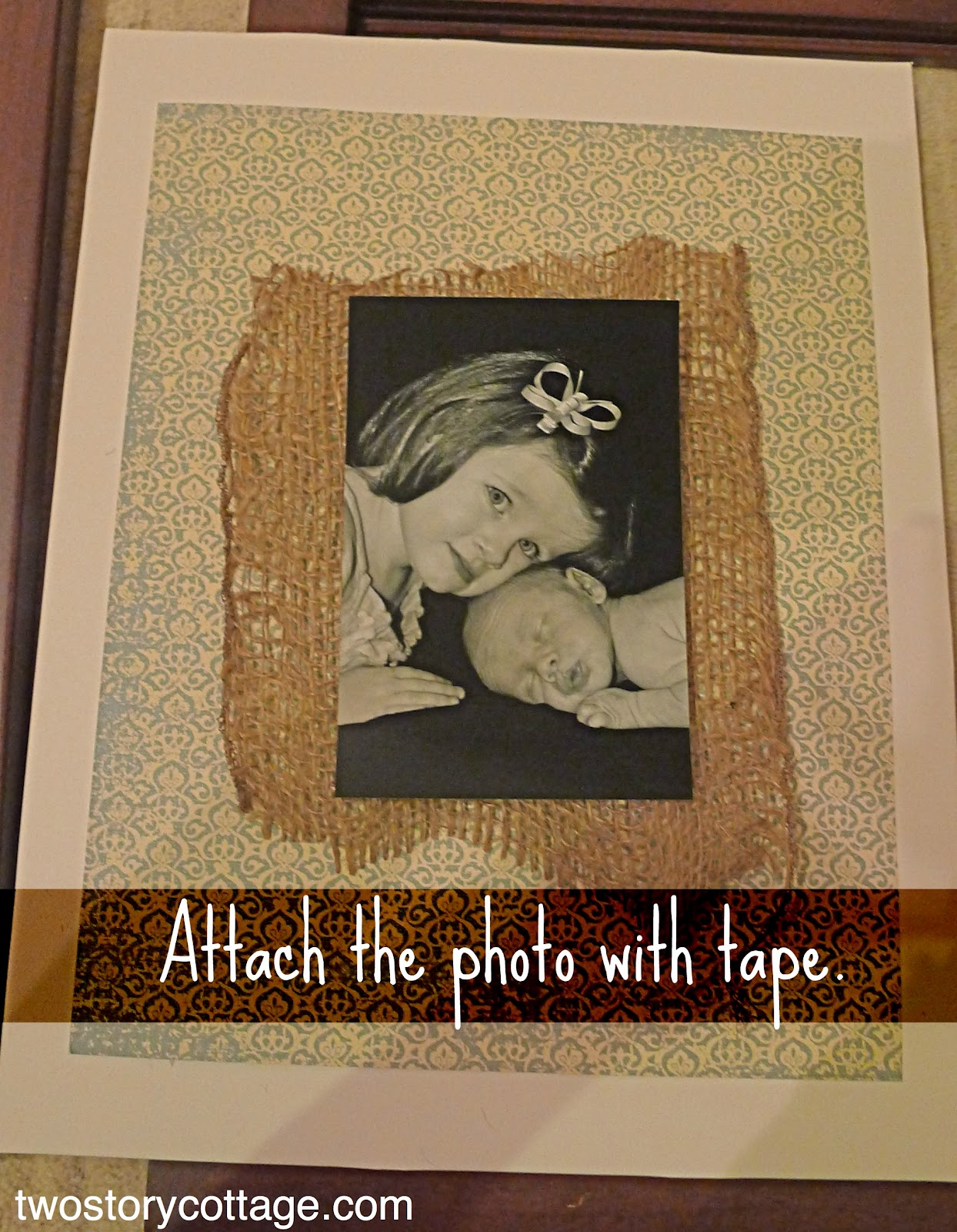 Kitchen Mats Target Napa Style Island Burlap & Scrapbook Paper Frames {mats}
