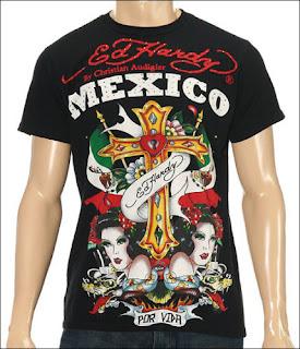 Ed Hardy tee shirt Mexico