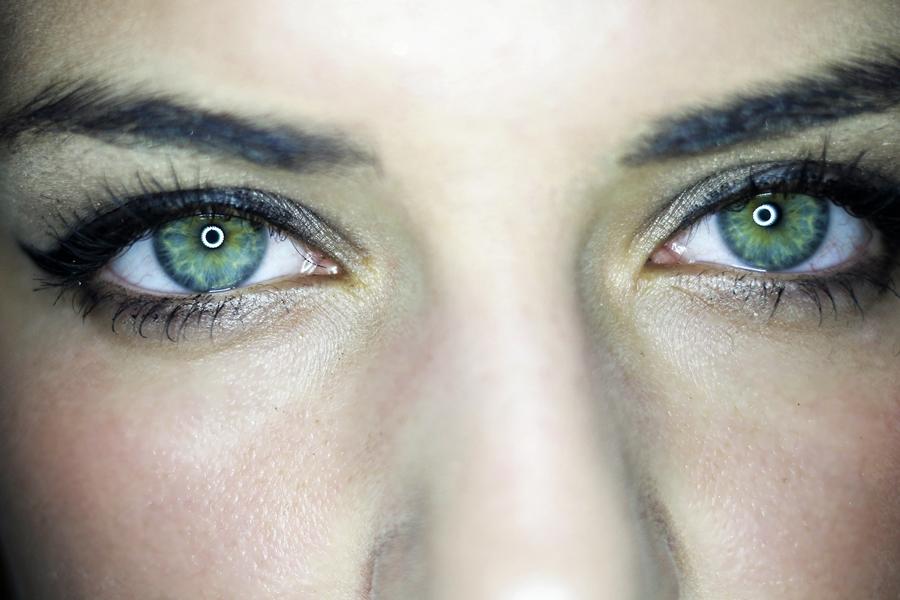 augenfarbe augen grün mascara wimpern