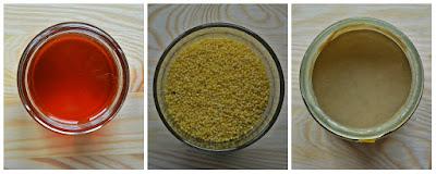 Placek jaglany z borówkami - składniki