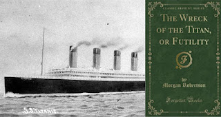 The incredibly bizarre book that predicted the sinking of the Titanic 14 years before it actually happened. This book is called Futility, or the Wreck of the Titan. Morgan Roberts is the author of The Futility, or The Wreck of the Titan. In 1898, 14 years before the sinking of the Titanic, author Morgan Robertson published Futility, or The Wreck of the Titan. This book is about the fictional ship Titan, the largest ship ever built, that sank after being struck by an iceberg in the Atlantic Ocean. In 1912, the Titanic sank, according to the book. There are many similarities between The IconicTitanic ship and The Titan ship in that book.