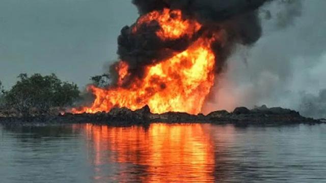 Militants set Agip pipeline ablaze in Nigerian oil community