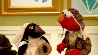 Elmo the Musical Airplane the Musical, penguin, Sesame Street Episode 4310 Afraid of the Bark season 43