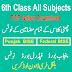 6th Class All Subjects Punjab Federal Board Notes