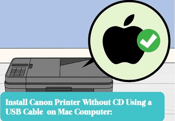 installation of canon printer without cd on mac