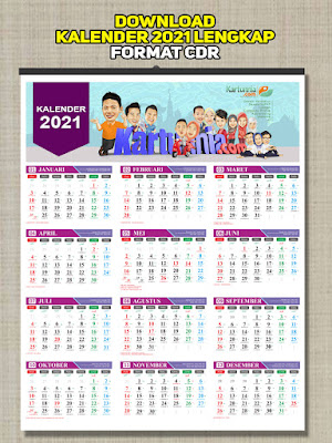 Gratis Download Kalender 2021 cdr