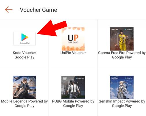 Buka Kode Voucher Google Play