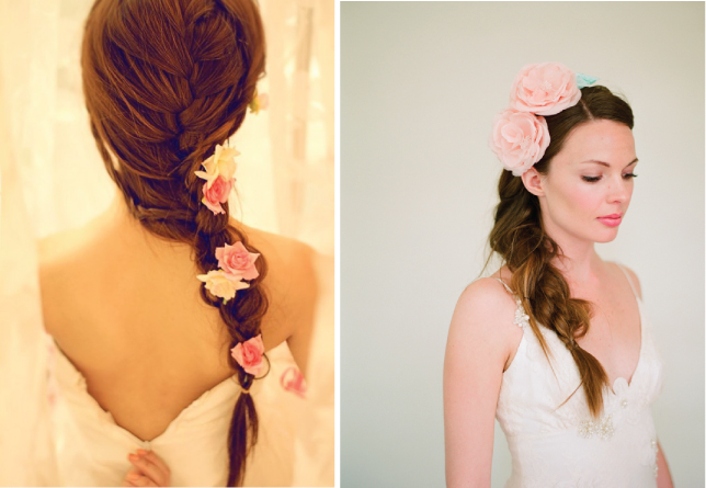 Wedding Hairstyles With Braids: The Northern Bride: Wedding Hairstyles With Flowers