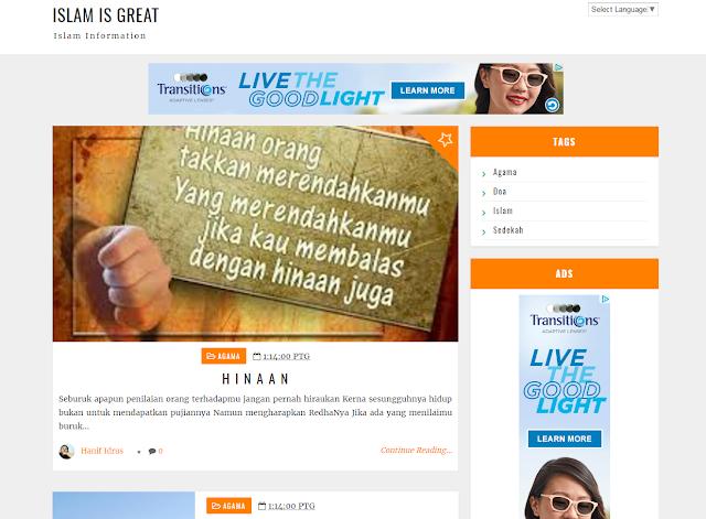 Blog SEO Untuk Islam Is Great