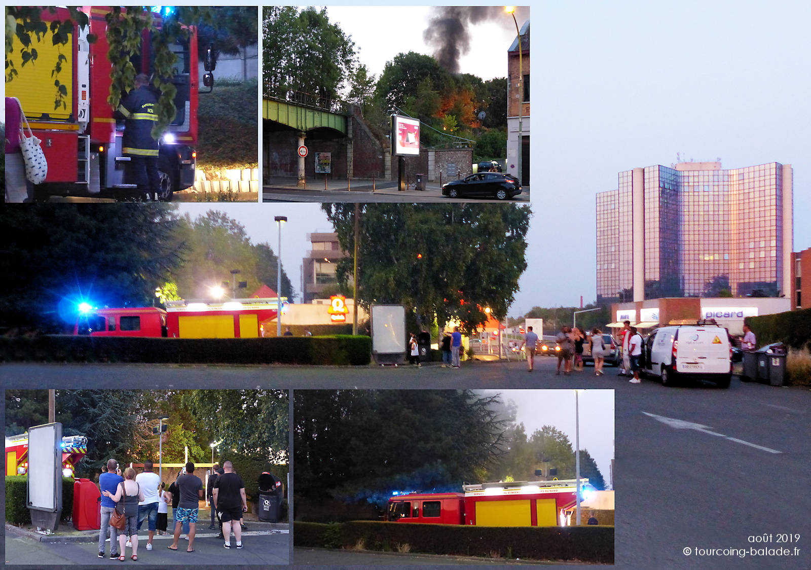 Pompiers Tourcoing - intervention Feu