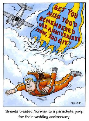 Watch out guys - Parachute Jump - Wedding Anniversary