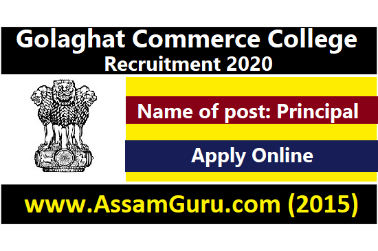 Golaghat Commerce College Job 2020