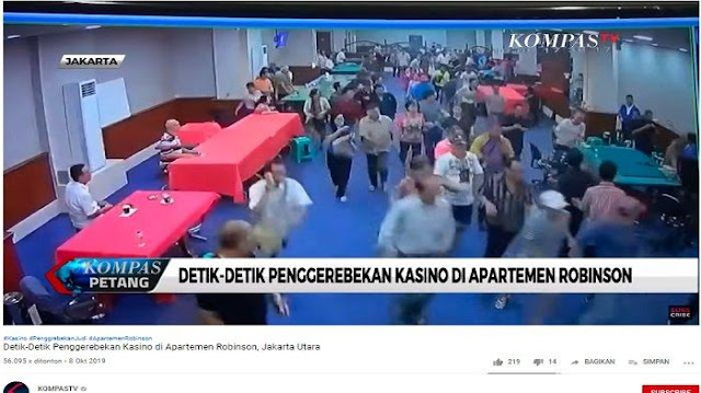 VIDEO Detik-detik Penggerebekan Kasino di Apartemen Robinson Jakarta, Ratusan Orang Lari Kocar-kacir