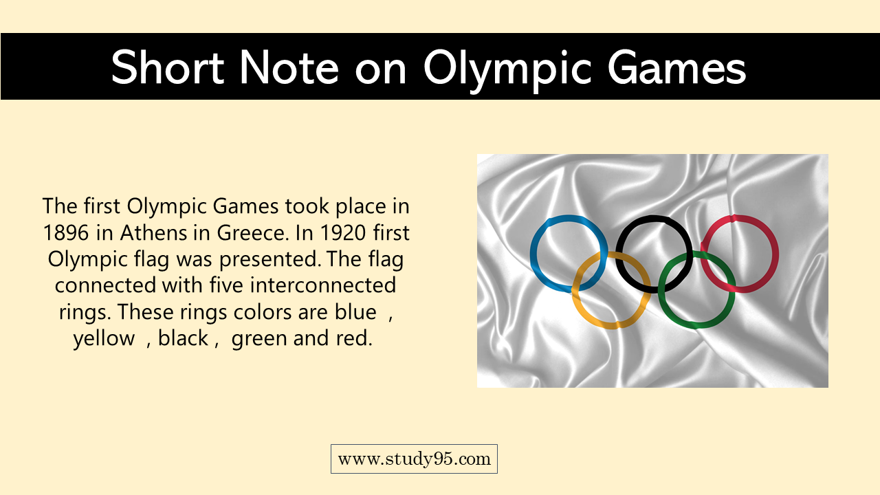 Write Short Note on Olympic Games