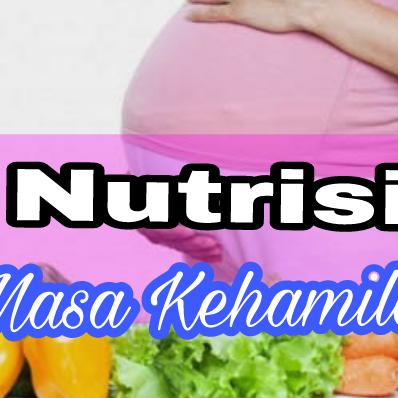 Nutrisi Yang Dibutuhkan Pada Masa Kehamilan