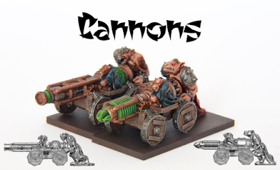 Unit consists of two complete Cannons. Lead-free pewter, supplied unpainted and without bases.