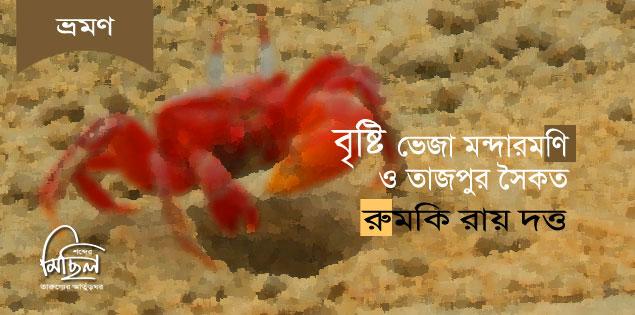 বৃষ্টি ভেজা মন্দারমণি ও তাজপুর সৈকত ---
