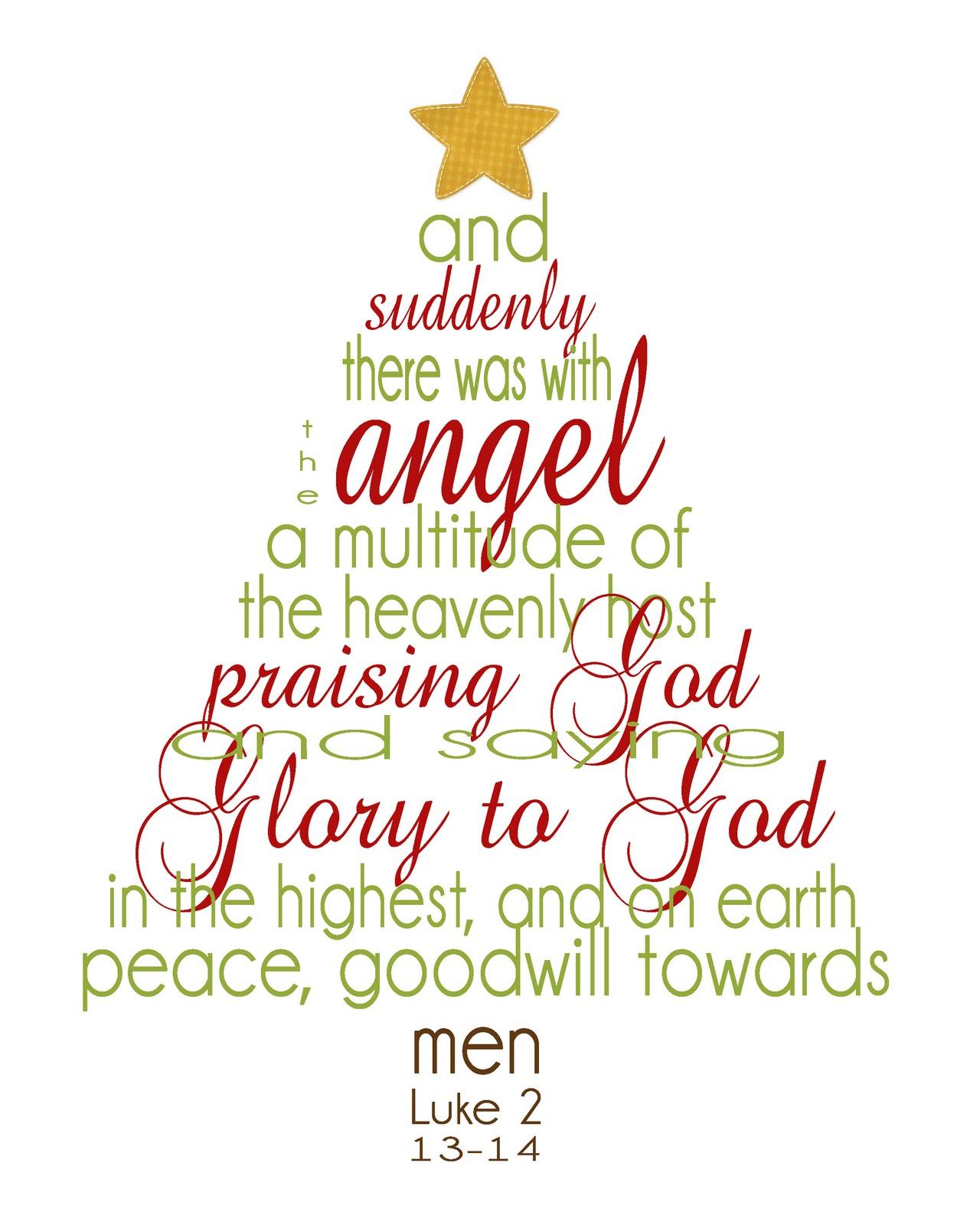 Christmas Tree In The Bible Scripture: Rantin' & Ravin': CHRISTMAS PRINTABLES