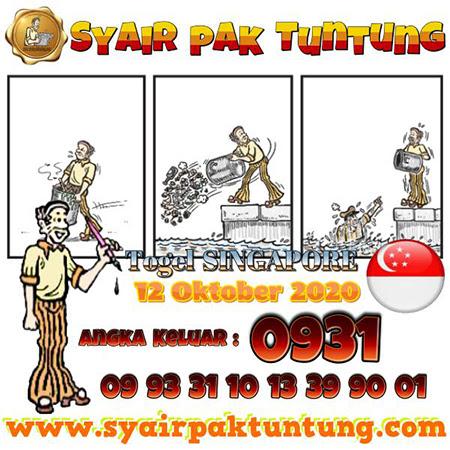 Prediksi Pak Tuntung SGP Senin 12 Oktober 2020