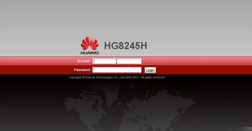 Password HUAWEI HG8245H