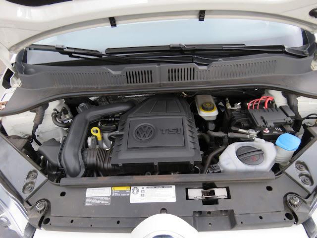 Volkswagen Up! TSI - compartimento do motor - organização