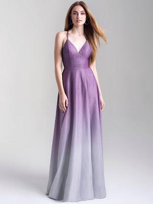 Strappy Back Madison James Prom Dresses Lavender color