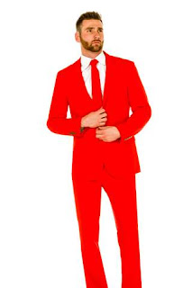 Red Suiting for Valentine's Day