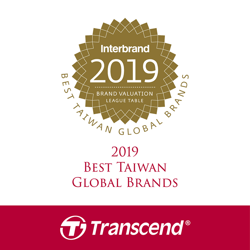 Transcend makes Best Taiwan Global Brands 2019 list