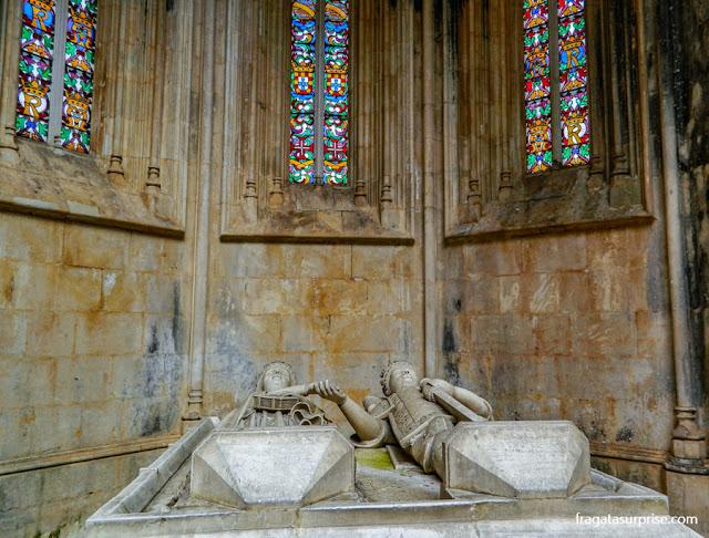 Túmulo de D. Duarte e da rainha Leonor nas Capelas Imperfeitas do Mosteiro da Batalha