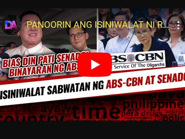 WATCH: Sabwatan ng Senado at ABS-CBN ibinulgar ng dalawang Artista