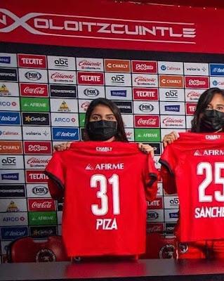 EX JUGADORA DE LAS ÁGUILAS UAGRO, FIRMO SU FICHAJE CON EL CLUB DE LOS XOLOS DE TIJUANA, EN LA DIVISIÓN DE FUTBOL FEMENIL