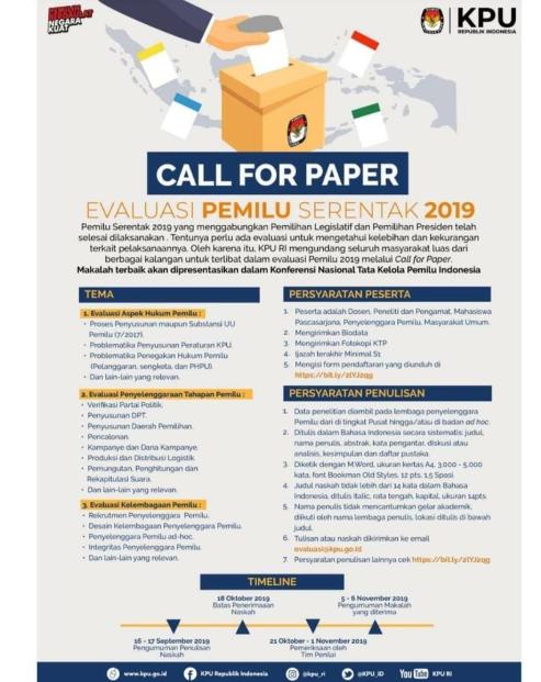Lomba Karya Tulis Ilmiah Nasional 2019 di KPU RI
