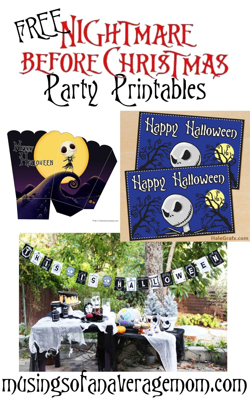 Musings of an Average Mom: Nightmare Before Christmas Party