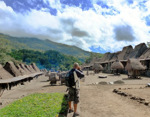 Travel.Tinuku.com Bena traditional village megalithic settlements 45 house on Flores island highlands to ancient life