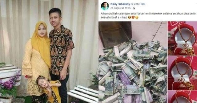 Viral Pria Tasikmalaya Belikan Istri Emas dari Tabungan Berhenti Merokok