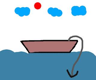 Dùng dây sinh tồn để làm dây neo thuyền