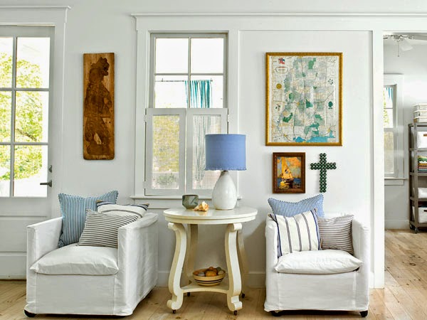 White cottage style living room furniture