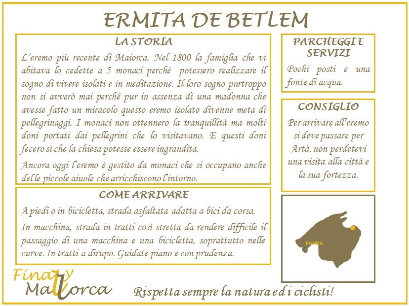 Scheda informativa Ermita de Betlem