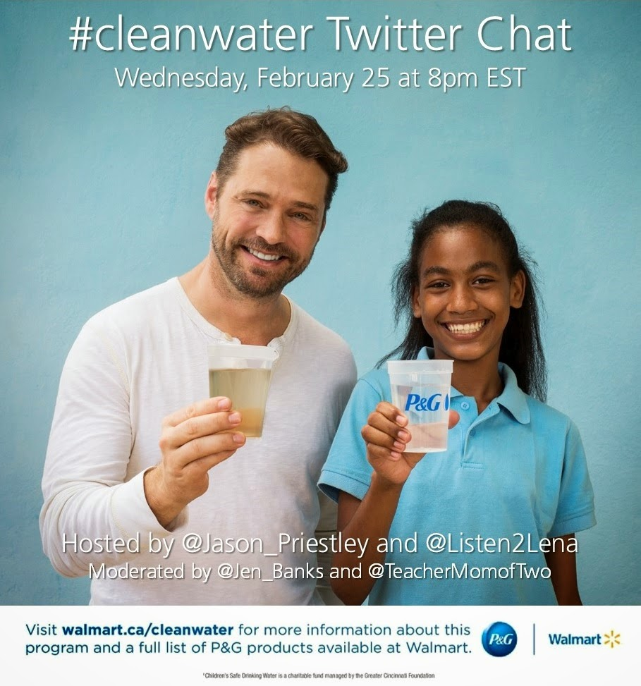 #cleanwater Twitter Chat with Jason Priestley