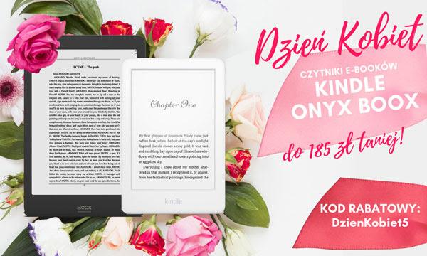 Promocja na Kindle i Onyx w czytio.pl z okazji dnia Kobiet