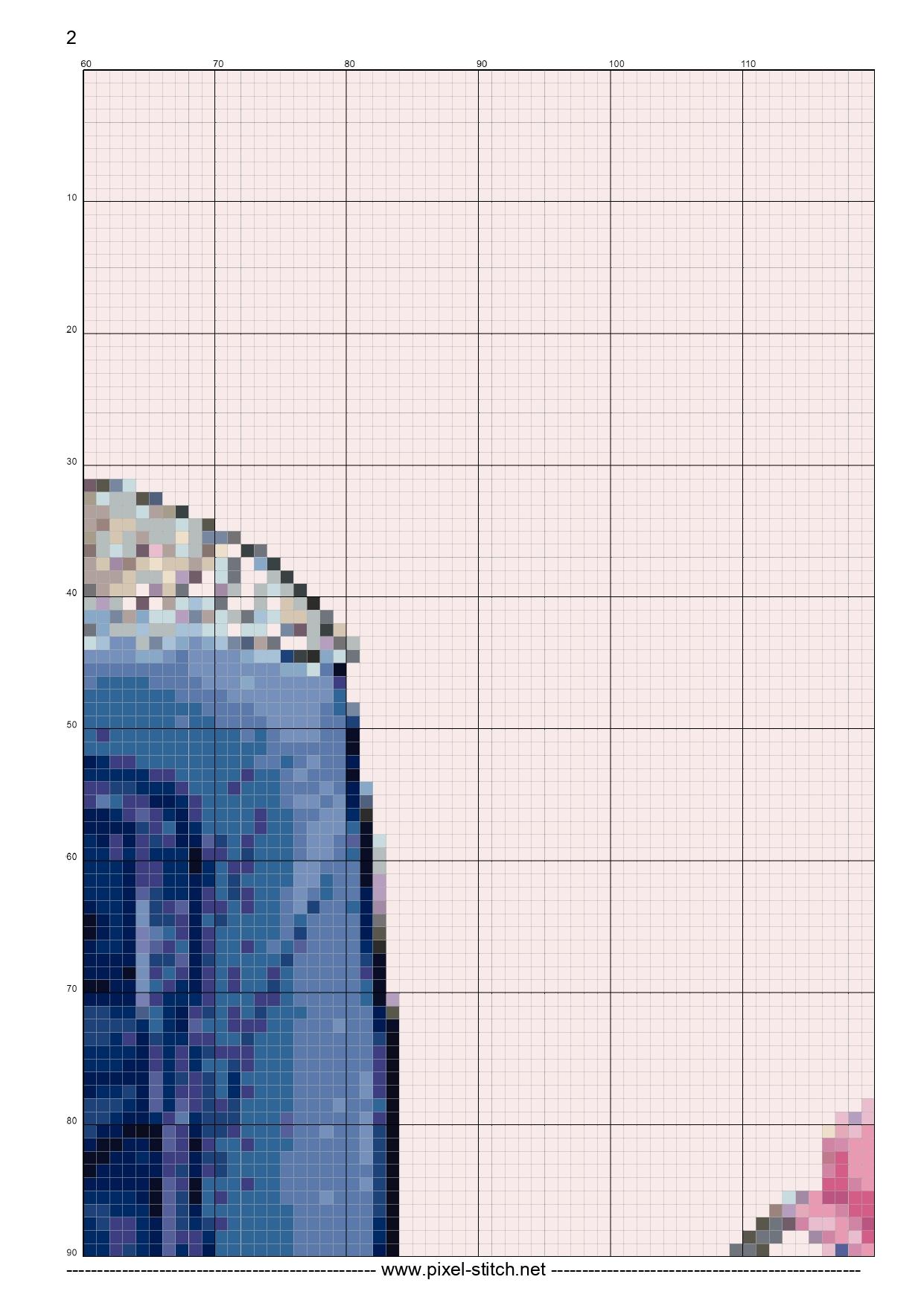 Джинсы и тюльпаны. Схемы вышивки крестом (5)