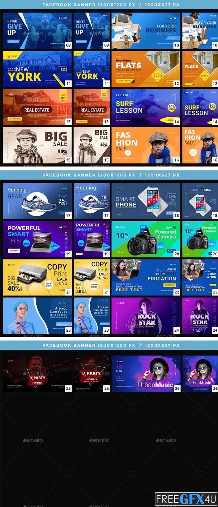 52 Facebook Multipurpose Banners