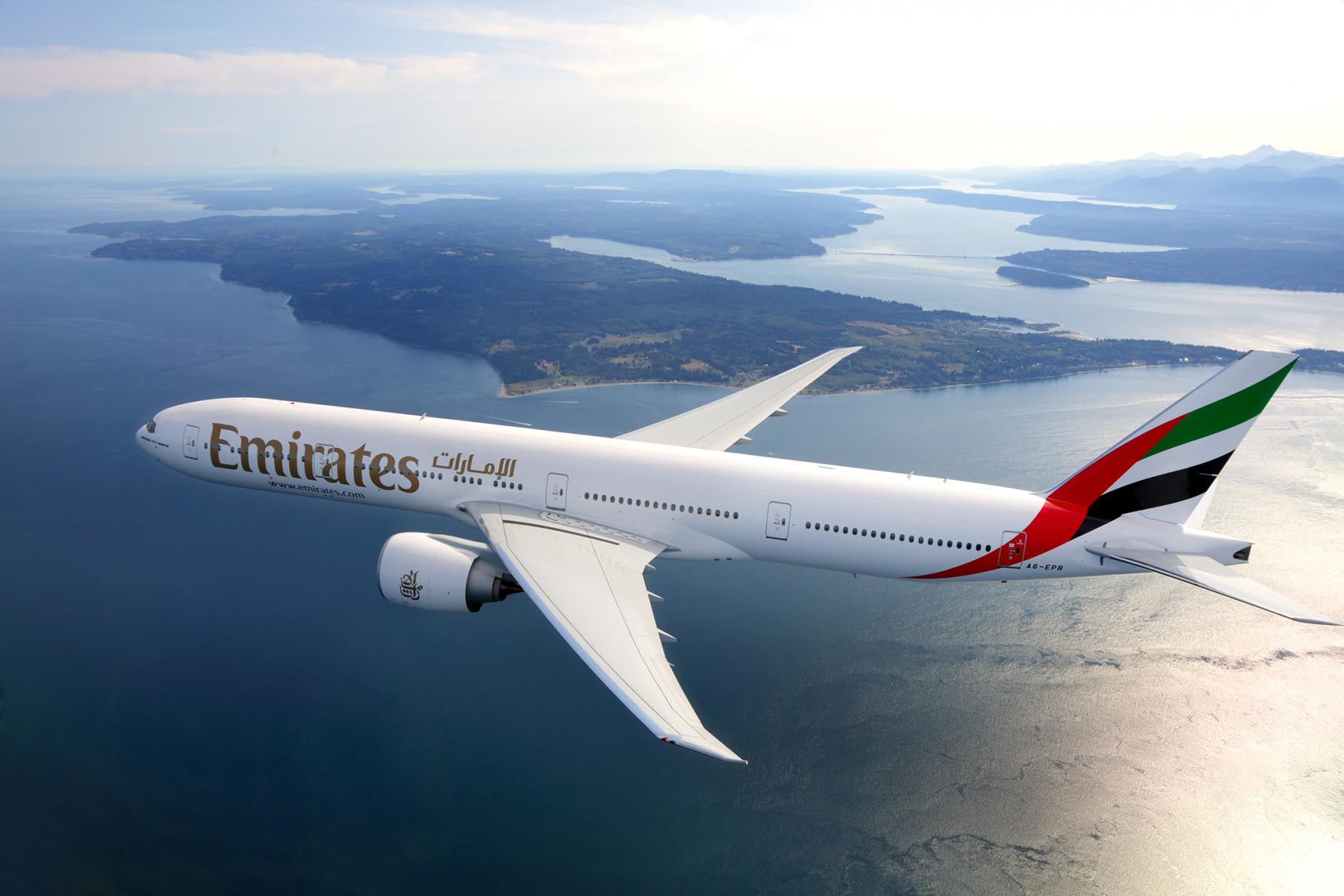 Emirates Boeing 777-300ER handout photo