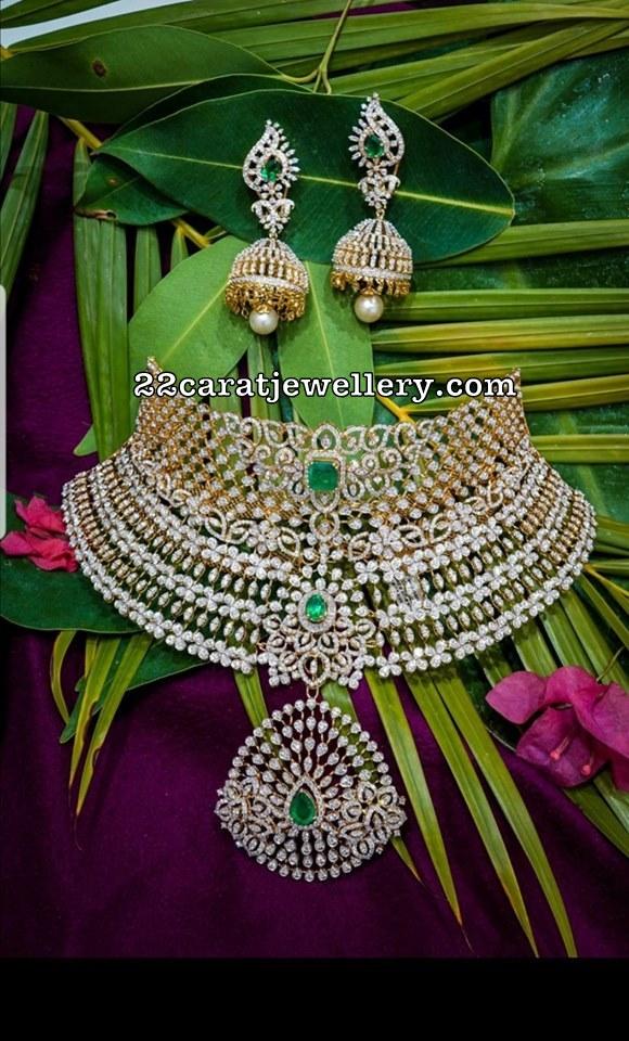 Grand Diamond Choker by Manjula Jewellers