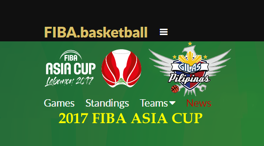 List of Gilas Pilipinas Matches Schedules, Standings, LIVESTREAMING, and Replays 2017 FIBA Asia Cup Lebanon