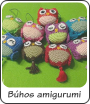 Búhos amigurumi