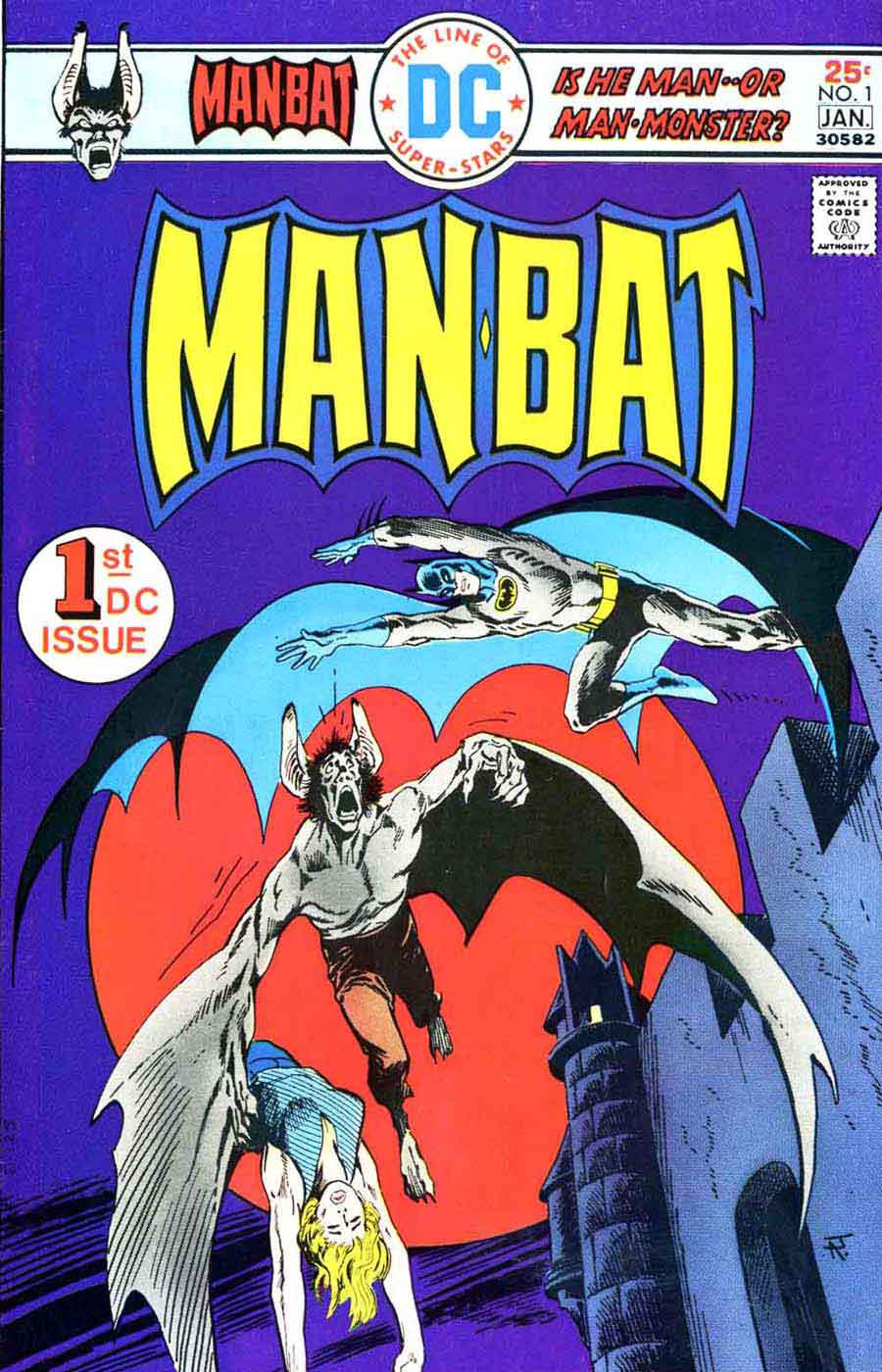 Man-Bat v1 #1 dc comic book cover art by Jim Aparo