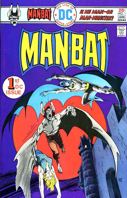 Man-Bat v1 #1 dc comic book cover art by Jim Aparo
